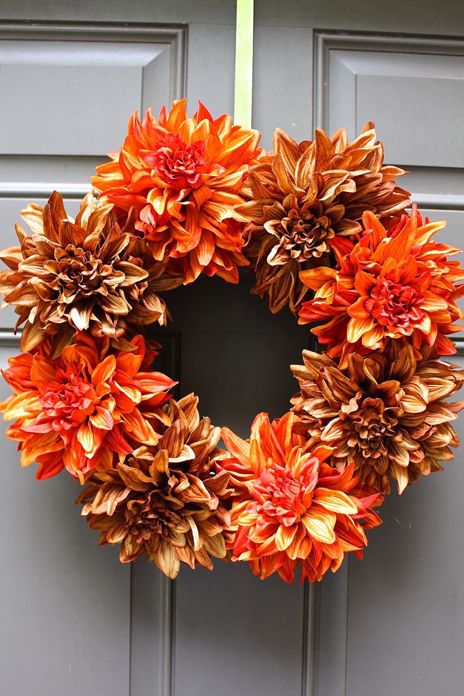 Easy fall flowers wreath womansday also wreaths that  ll add serious autumn flair to your door rh pinterest