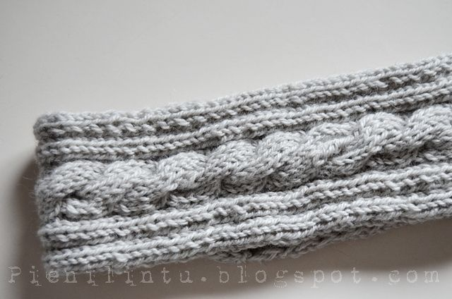 Knitted headband for winter.