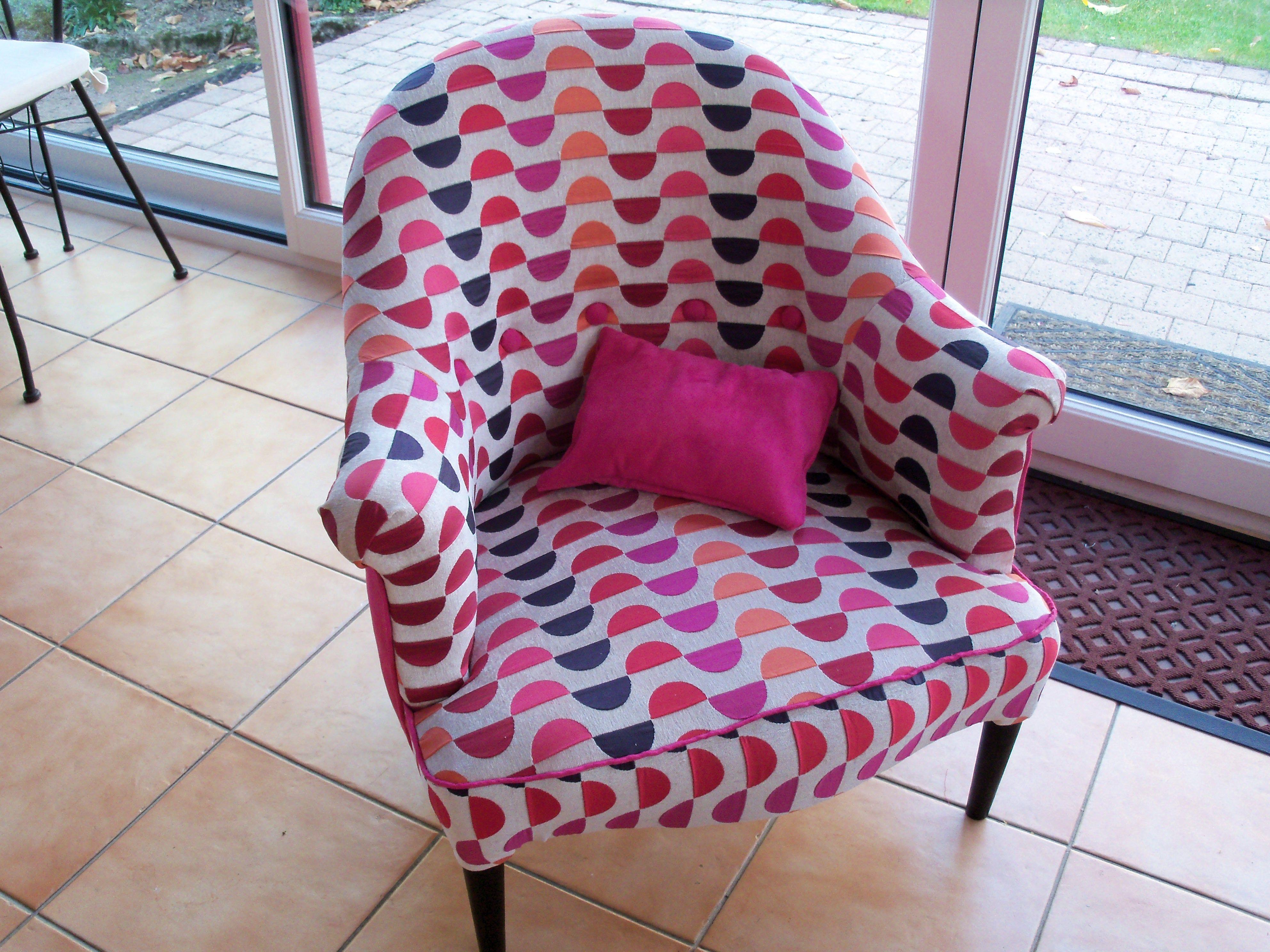 Fauteuil Crapaud Multicolore Fushia Renove Fauteuil Pinterest - Fauteuil crapaud multicolore
