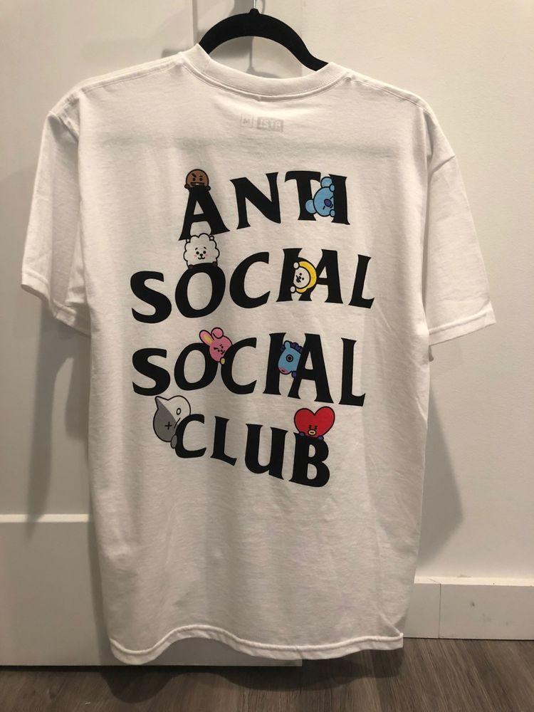dcd023a086b4 Anti Social Social Club X BT21 Collab White Peekaboo Shirt (Size M ...