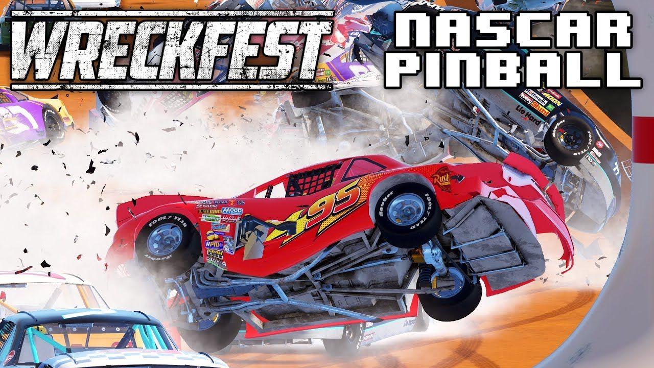 Lightning McQueen NASCAR Pinball! Wreckfest Live Stream