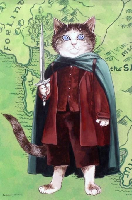 Middle Earth Sting By Susan Herbert Image Chat Peinture De Chat Illustration De Chat