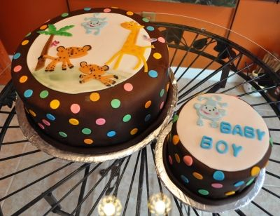 Animal Theme Baby Shower Cake By Glikz_Cakes on CakeCentral.com