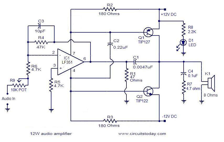Simple 10W audio amplifier (con imágenes)   Electronics ...