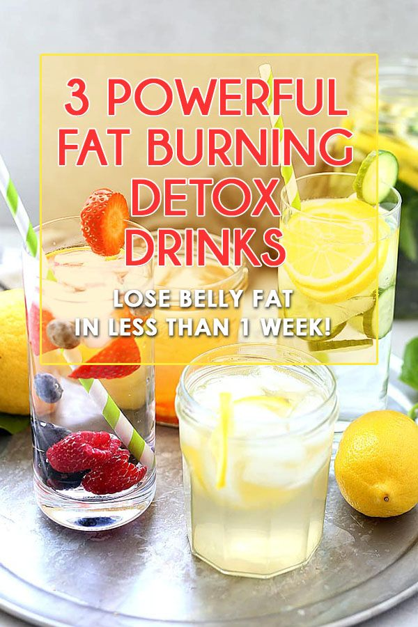 3 POWERFUL FAT BURNING DETOX DRINKS | LOSE BELLY FAT IN LESS THAN 1 WEEKS