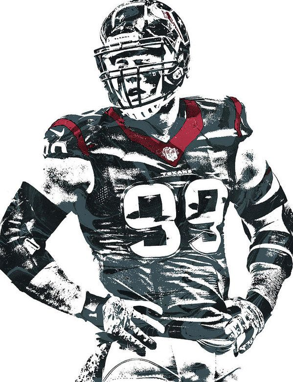 Jj Watt Houston Texans Pixel Art 5 Art Print By Joe Hamilton Nfl Football Art Jj Watt Houston Texans Football