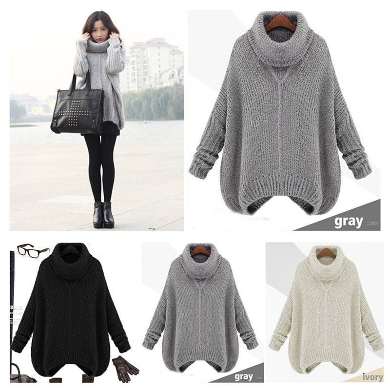 62ec81641eb10 Pregnant Tops Knit Sweater Maternity Turtleneck Fashion Women Winter & Fall  Coat