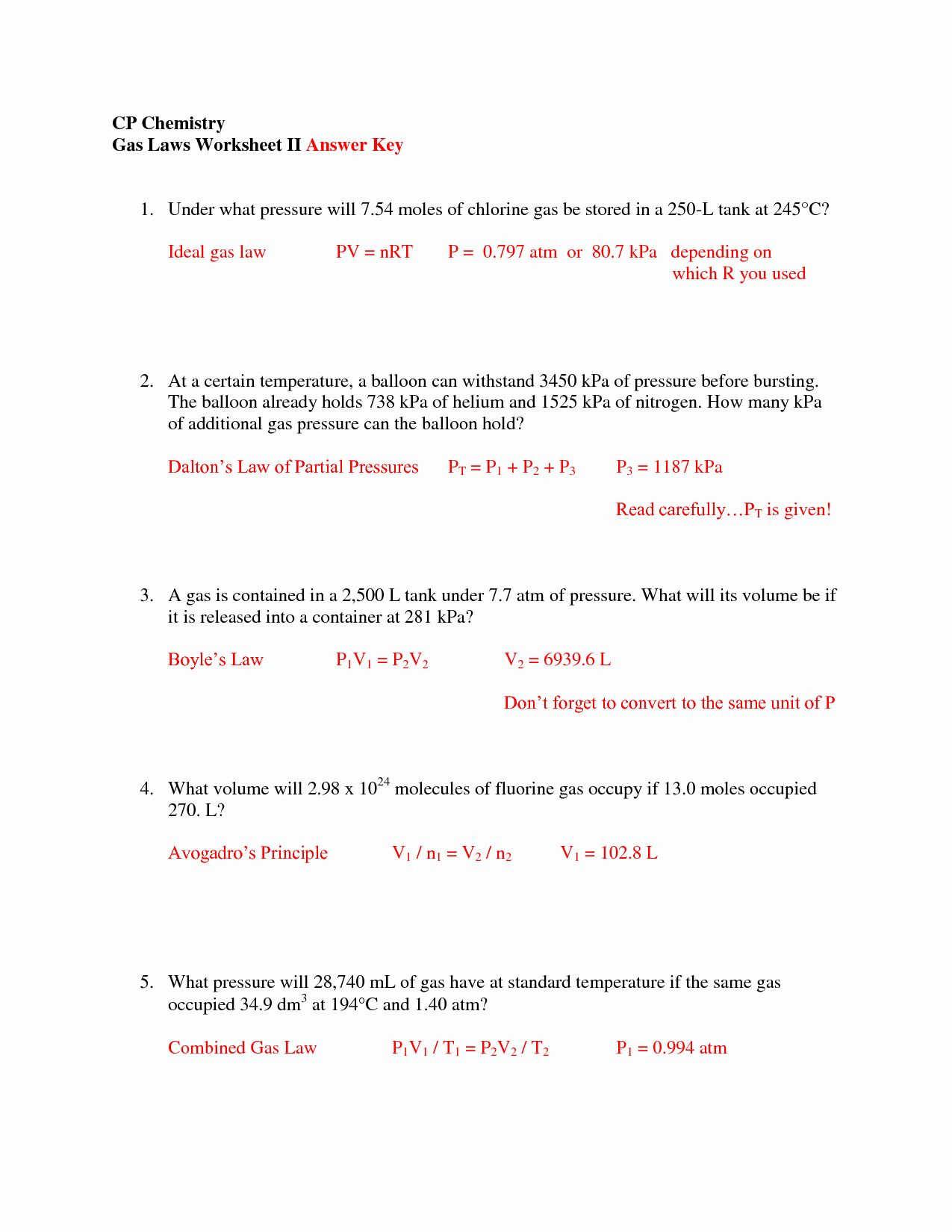 The Mole And Avogadro S Number Worksheet Answers