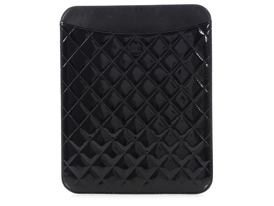 Chanel Black Patent Ipad Case