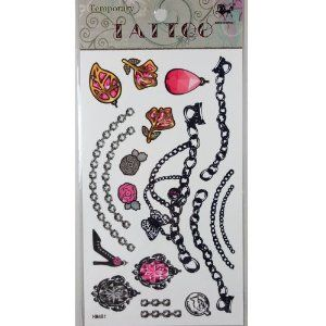 Kinghorse Striking Designed Temporary Tattoo Stickers for Women (Stylish Ear Studs, Diamond Heart and Beautiful Heel Pendants, Necklace, Bracelets, Armbands,) by King Horse. $3.54. Made and sold by GGSELL--Ship form USA, the only authorized online distributor in the US. Our temporary tattoos are certified by F.D.A, EN71, ASTM, safe and non-toxic. Use parts: Can be used in the skin, metal pottery, glass and other surfaces. Attached to the waist, chest, neck, arms, back, ...