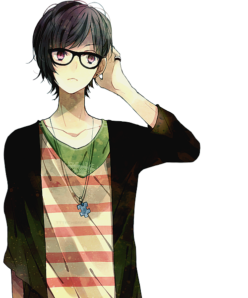 Large Png 500 600 Anime Glasses Boy Cute Anime Boy Cute Anime Guys