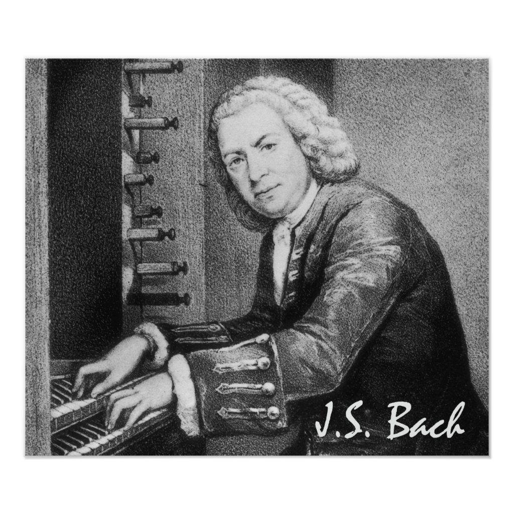 Johann Sebastian Bach Fine Art Poster Zazzle Com In 2021 Sebastian Bach Organ Music Bach