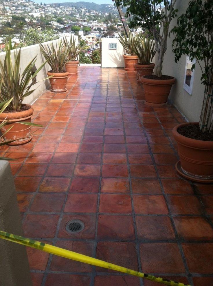 Saltillo tile saltillo tile saltillo mexican tile for Pisos para patios rusticos
