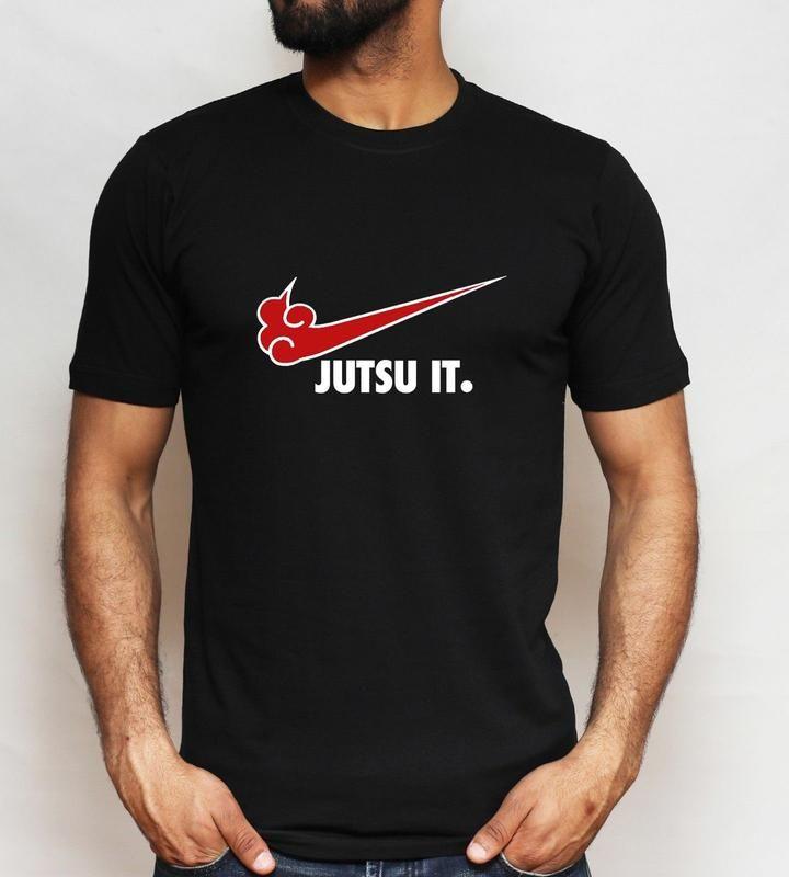 Jutsu it nike style naruto tshirt with images naruto t