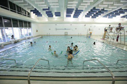 Fun in one of our indoor pools at PaloAltoFamilyYMCA