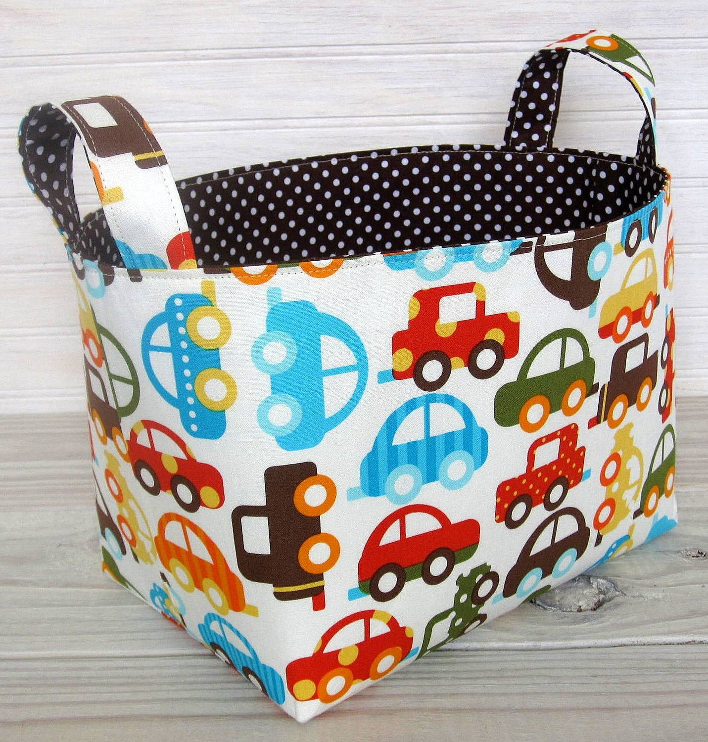Basket Storage Bin Organizer - Ready Set Go Cars. This would also be a GREAT library book holder in the home to keep all those library books in one place.  sc 1 st  Pinterest & Storage Basket Fabric Bin Organizer Container - Ready Set Go Cars ...