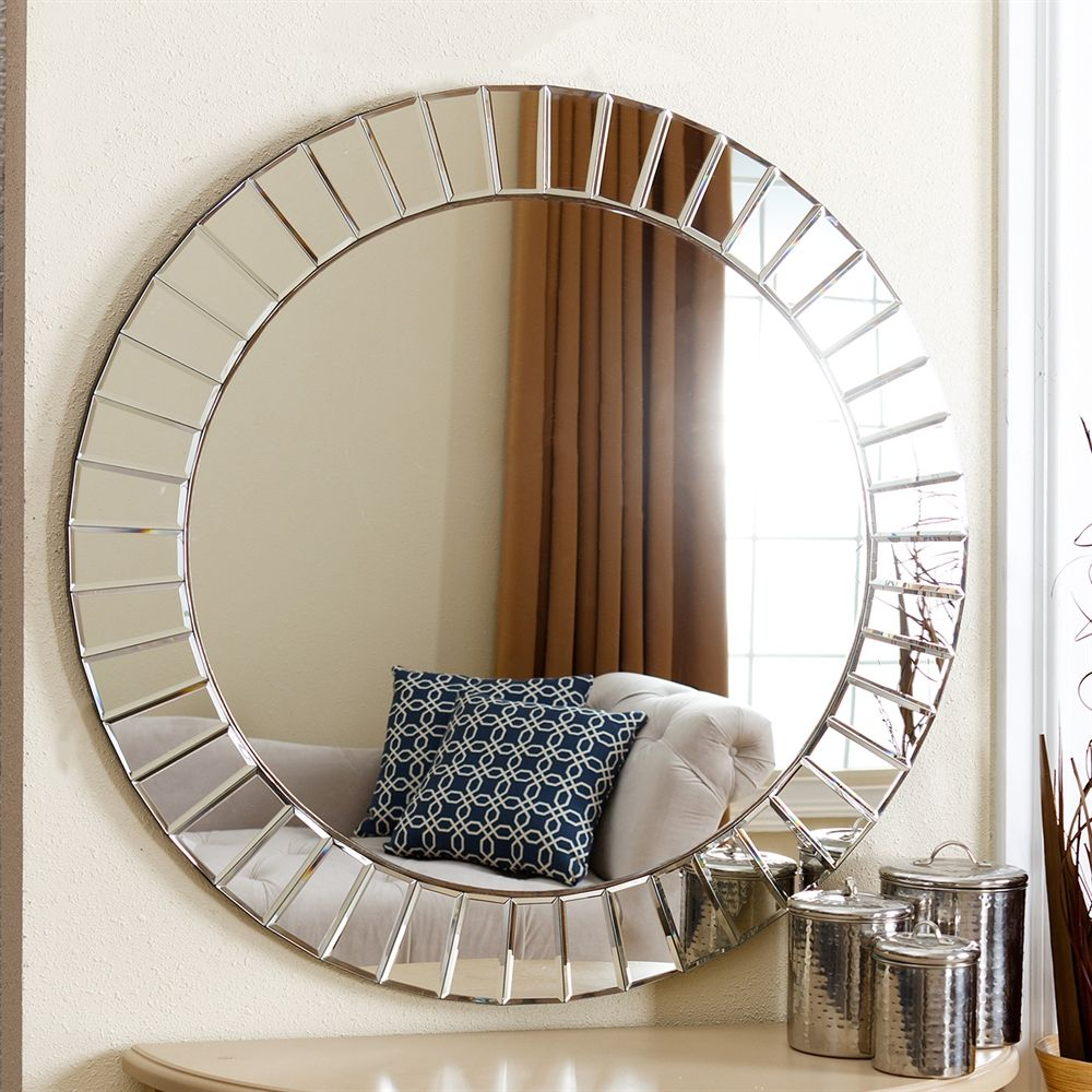Shop Pacific Loft Ayden Round Wall Mirror At The Mine Browse Our Wall Mirrors All With Free Shipping And Best Price Guaranteed Gray White Decor