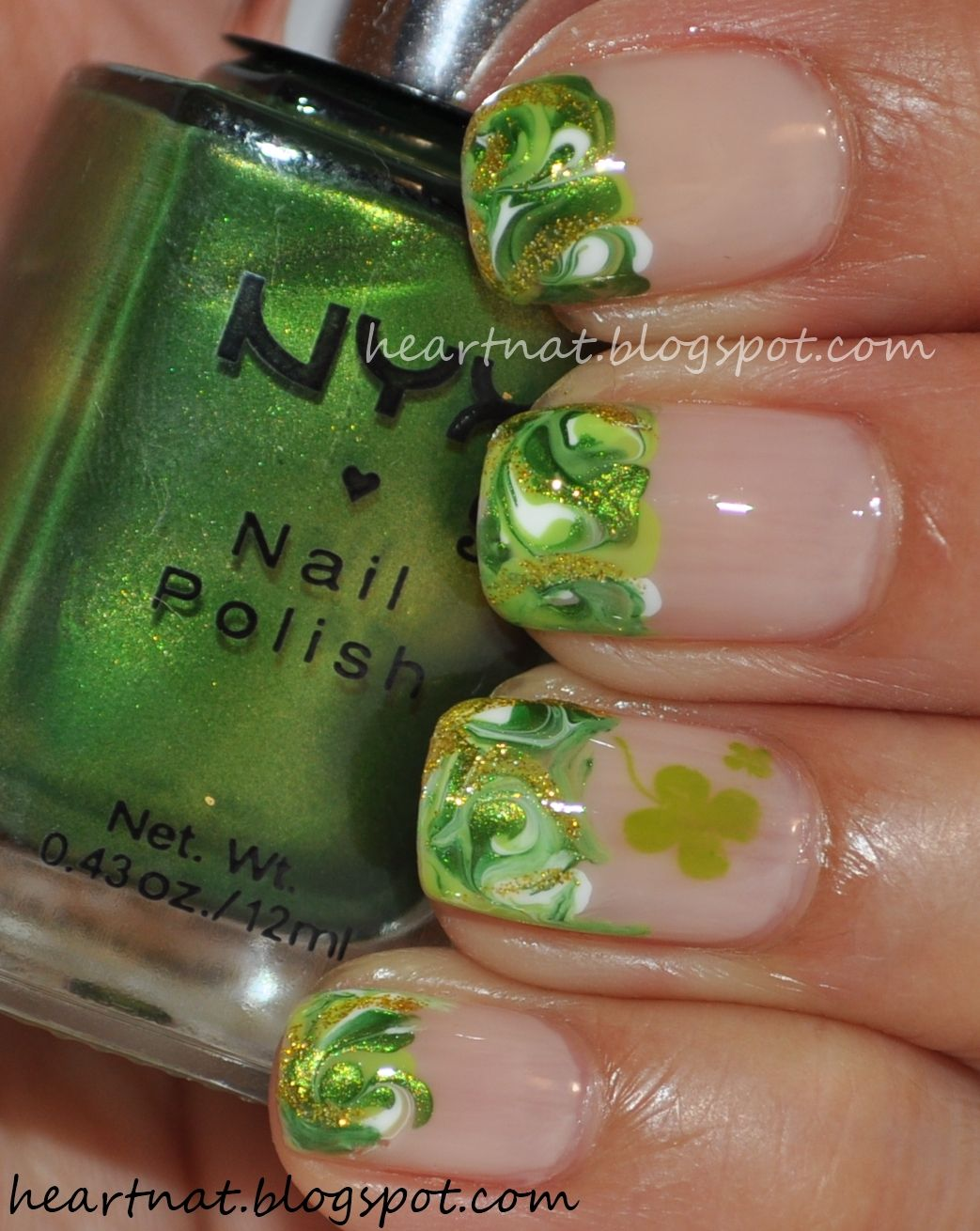 french nail art: St. Patrick\'s Day Mani #2 | 10 Lovely Digits ...