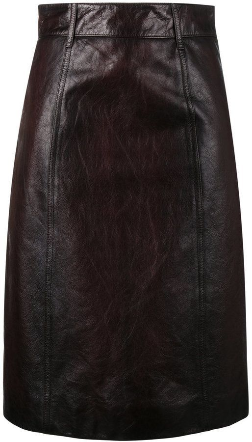 da708f76f8 Prada Matte Nappa Skirt in 2019 | leather pencil skirt | Leather ...