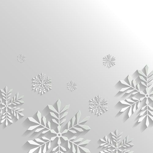 Paper Floral White Christmas Backgrounds Vector 04 White Christmas Background Christmas Background White Christmas