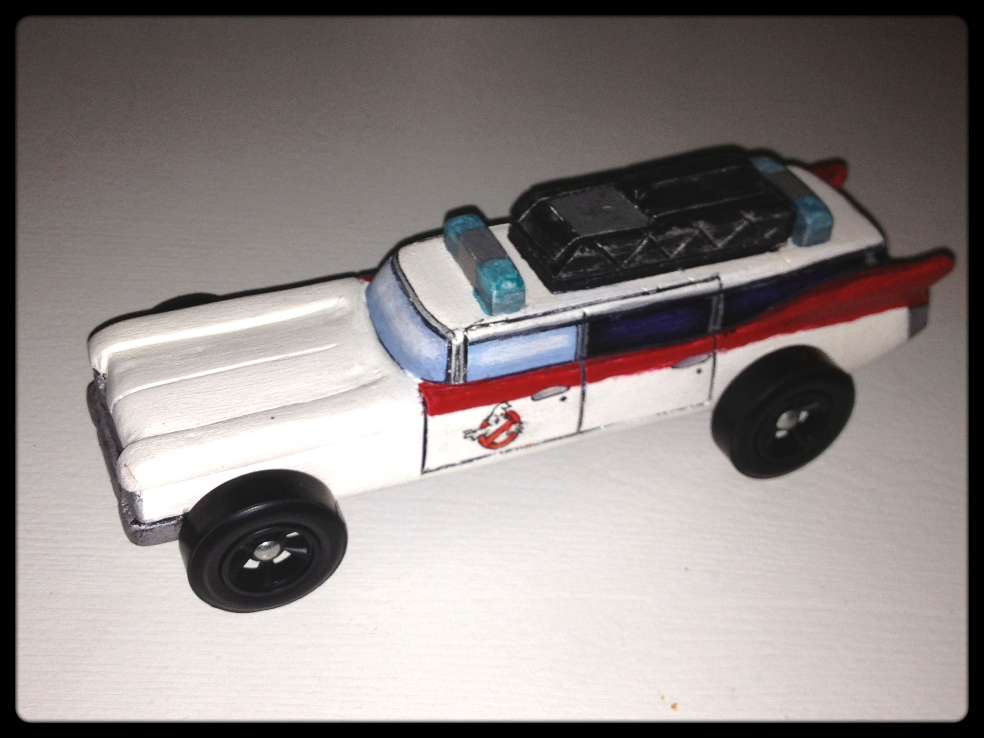 Ghostbuster\'s Ecto 1 pinewood derby car. | My creative projects ...