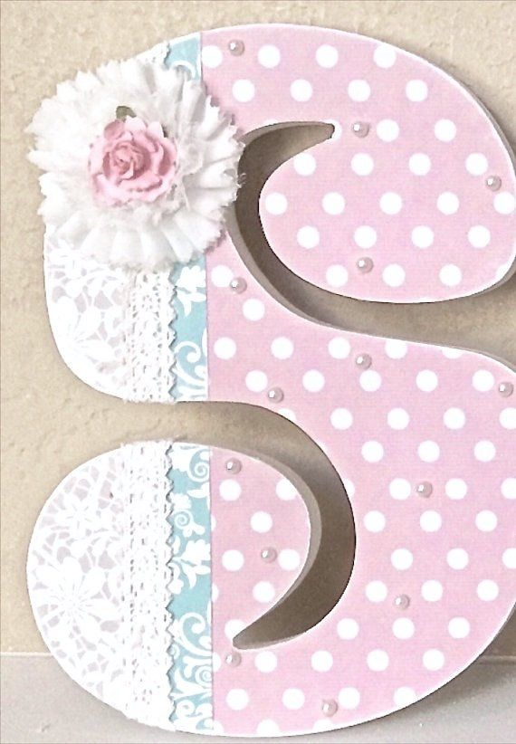 Custom Nursery Letters Baby Decor Wooden Personalized Gift Wall Lette