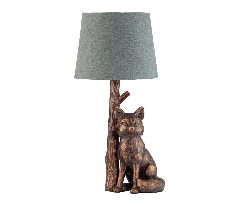 Buy Argos Home Fox Table Lamp Bronze Grey Table Lamps Argos Grey Table Lamps Animal Lamp Table Lamp