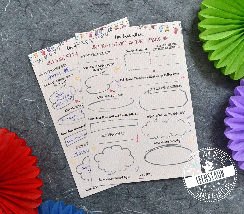 Geburtstag Ein Jahr Alter Geburtstag Geburtstagsbuch Und