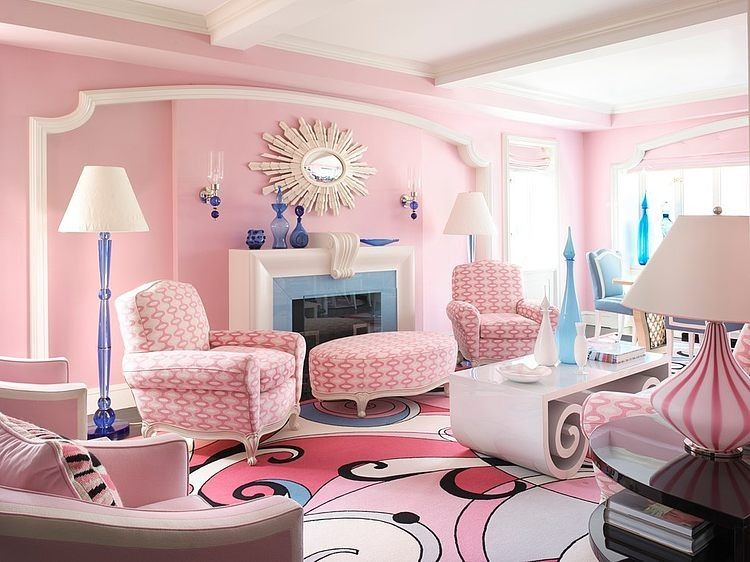 Pink Home in NYC by Anthony Baratta | Pink | Pinterest | Interiors ...