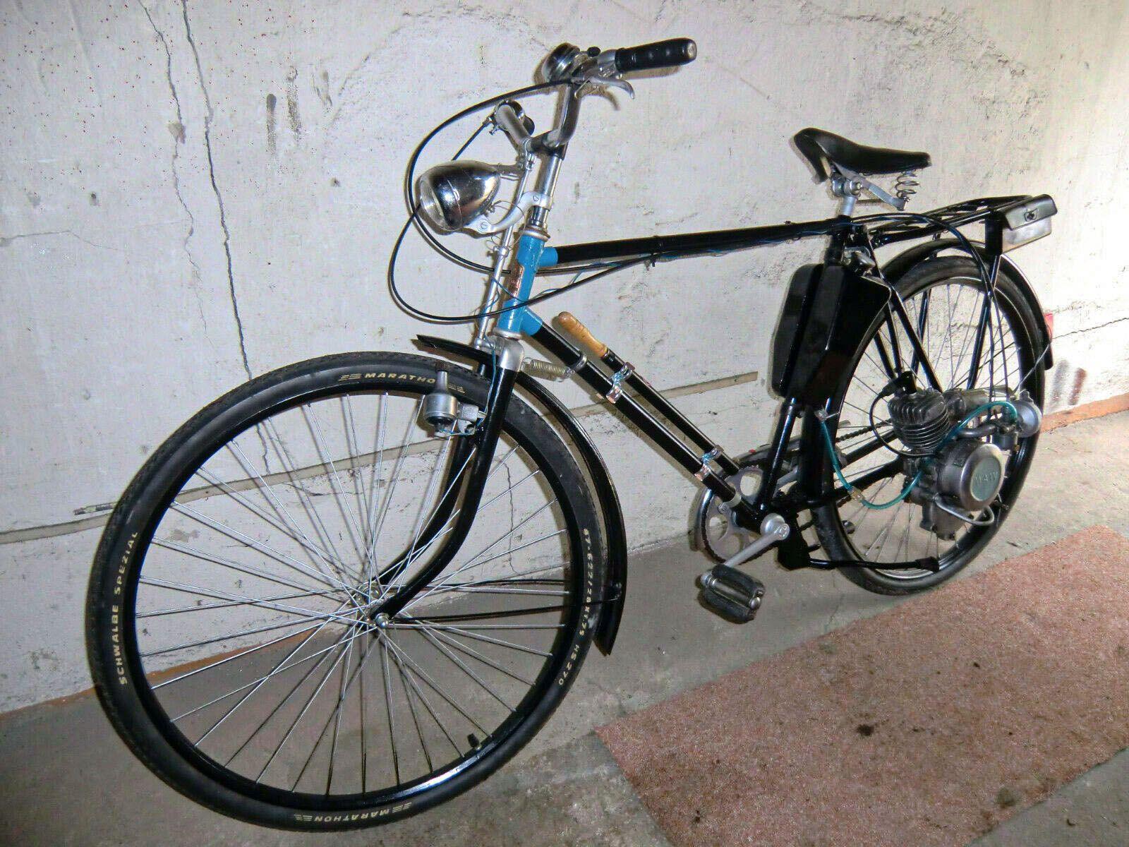 1957 Fahrrad Mit Maw Hilfsmotor Huhnerschreck Fahrrad Mit