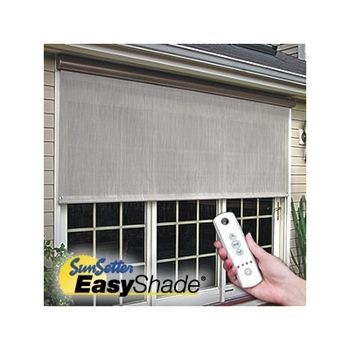 SunSetter EasyShades U2014 Motorized, Remote Controlled Outdoor Shades For  Balcony Doors