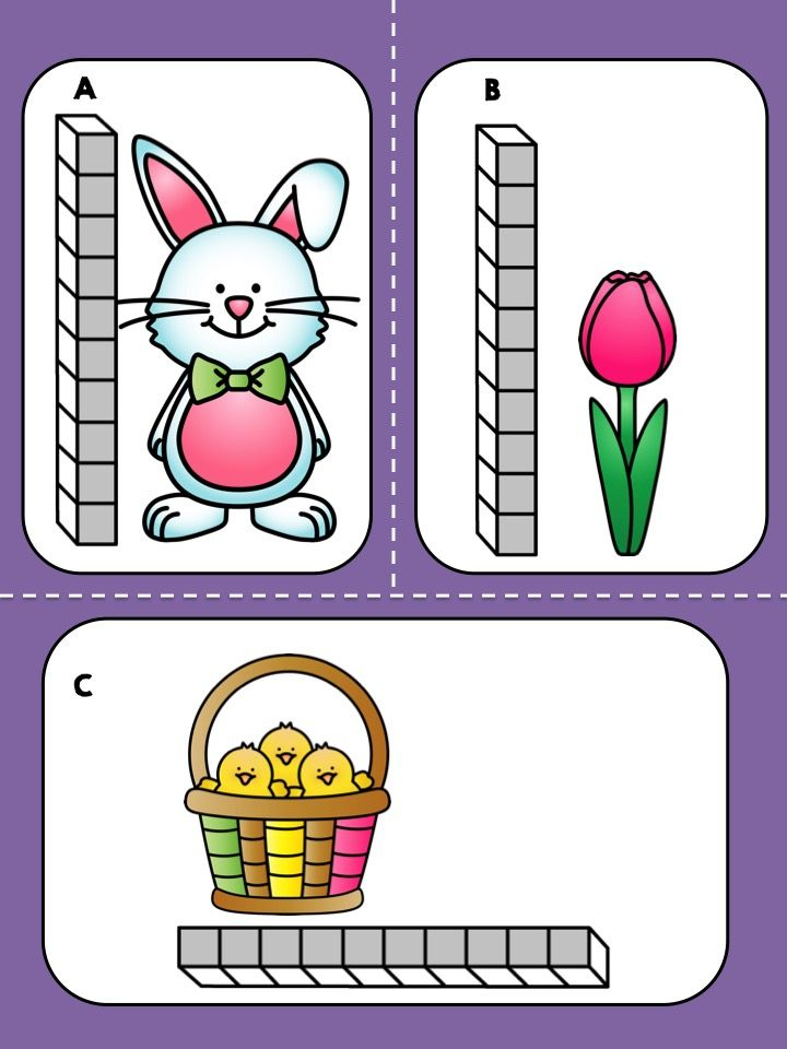Easter Measurement Math Center - FREE