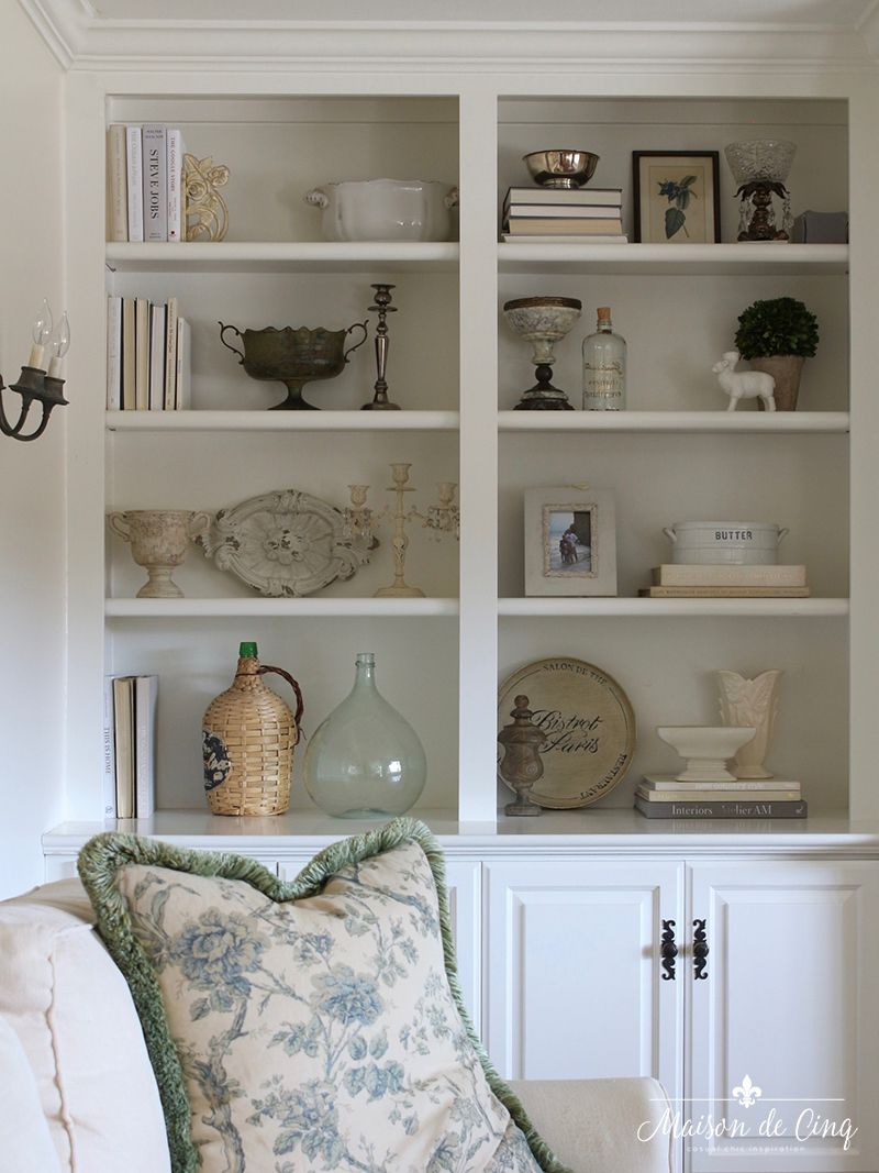 How To Style Book Shelvey Re Styled Family Room Built Ins