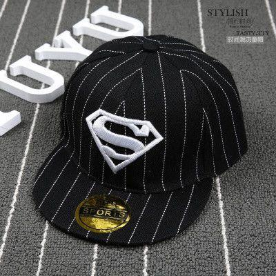 2016 Fashion Kids Cartoon Snapback Caps, Flat Brim child baseball cap, embroidery childrens spiderman hats, Cute batman hat