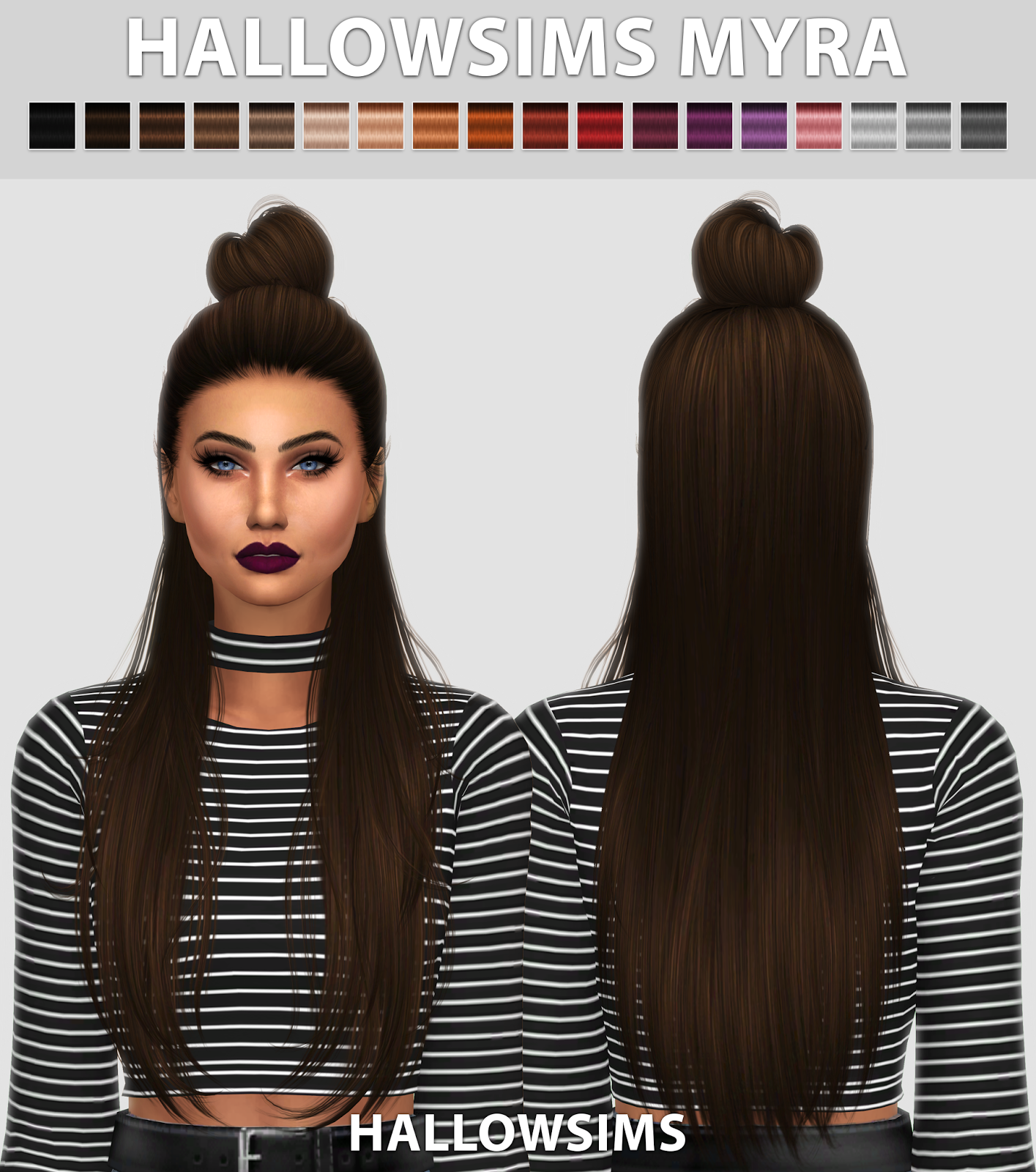 HallowSims Myra LycaSims Sims 4 Hair Pinterest