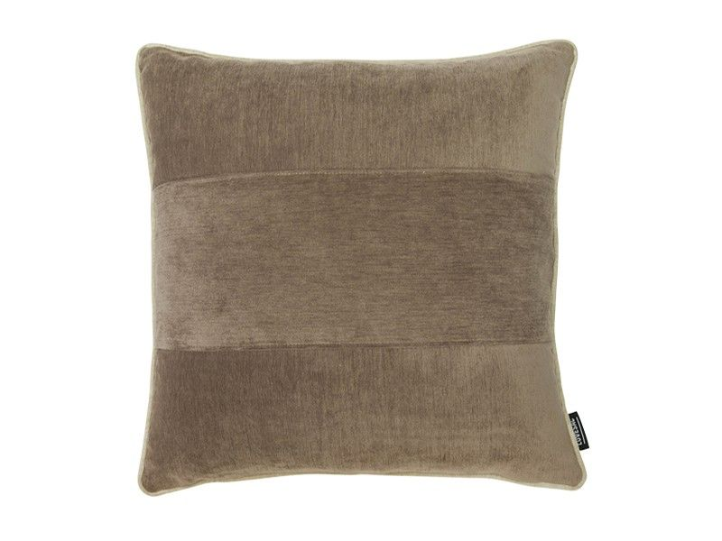 24x24 Throw Pillow Cover Taupe bed Chenille Tan bed