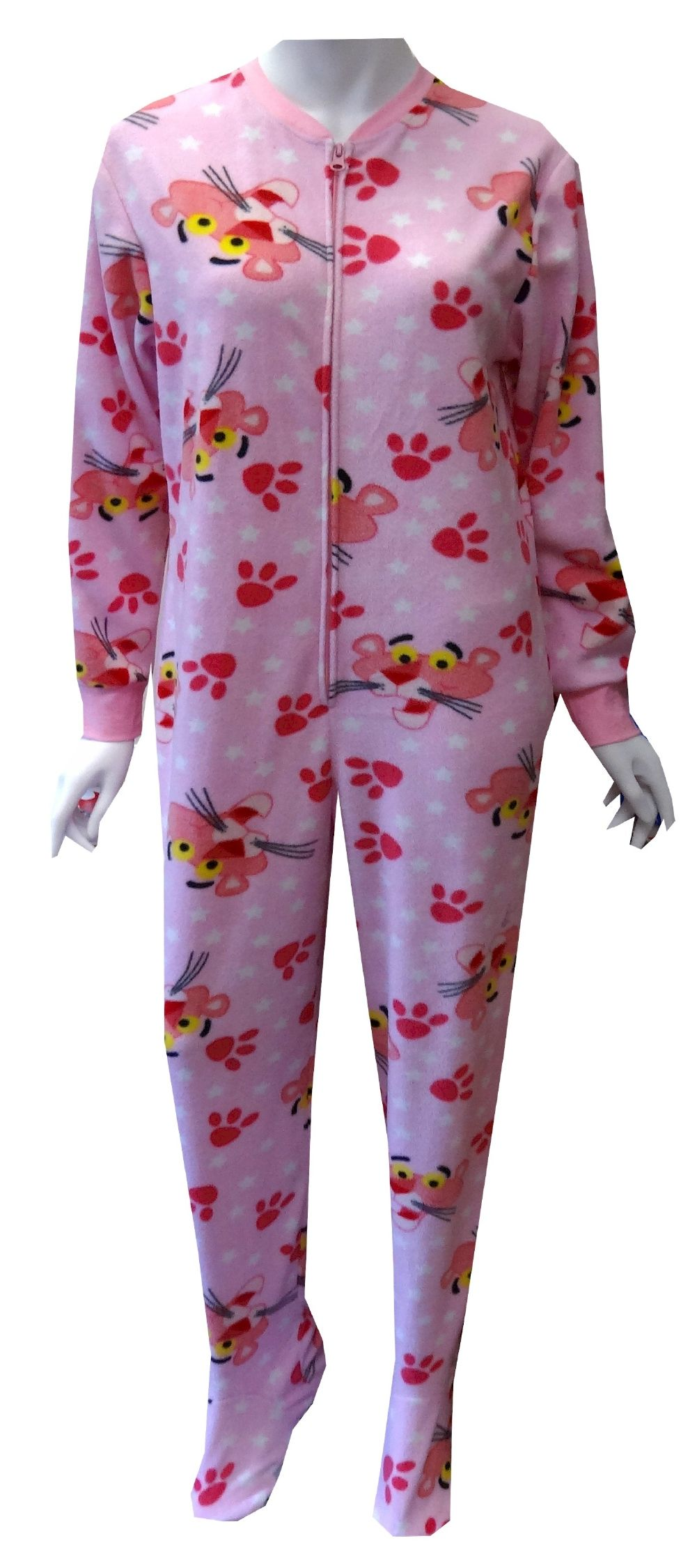 f2a3ae8f5 Pink Panther Star Struck Pink Fleece Footie Onesie Pajama The Pink ...