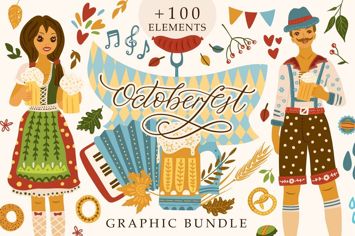 Octoberfest. Graphic Bundle. (326163) | Illustrations | Design Bundles