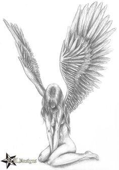 Fallen Angel Drawings Google Search Angel Drawing Badass