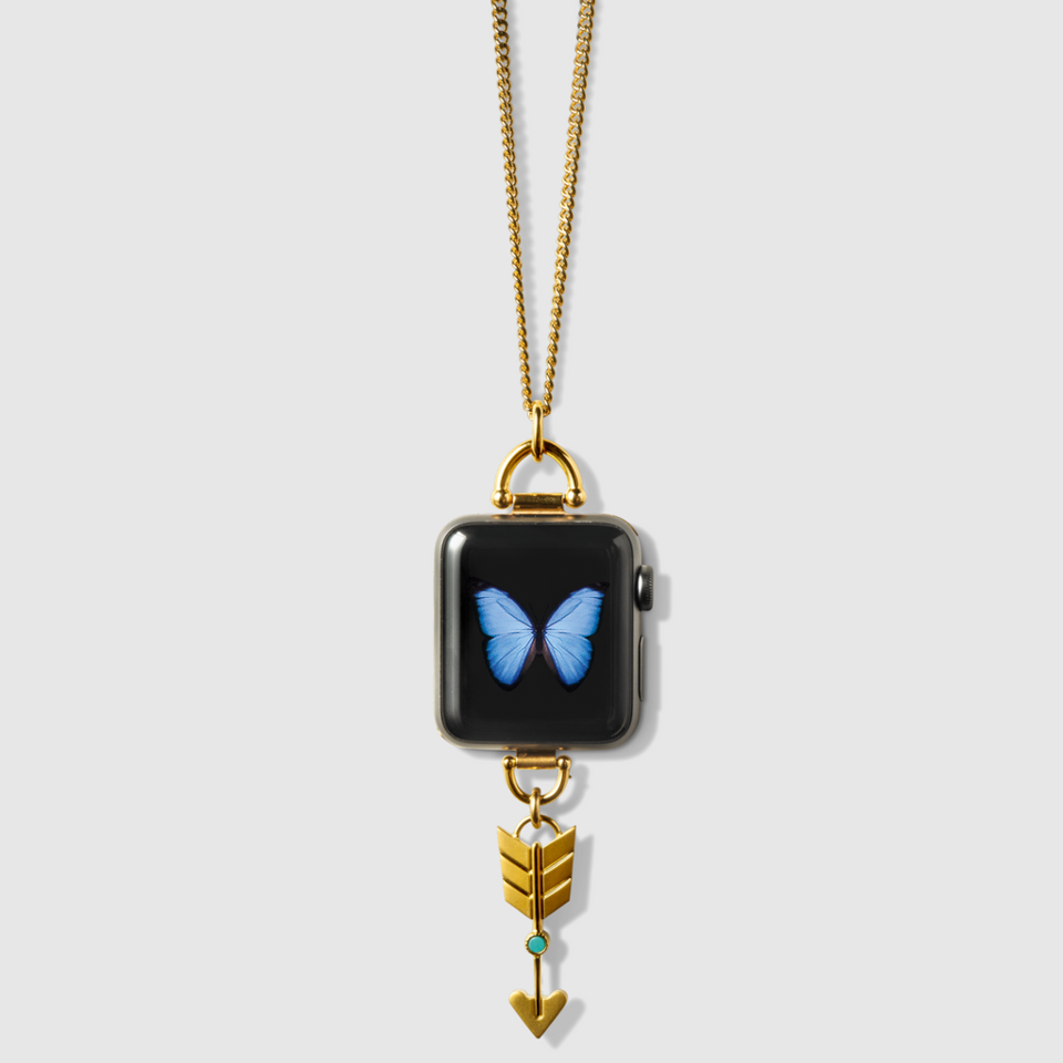 Gold Arrow Charm Necklace Apple watch necklace, Apple