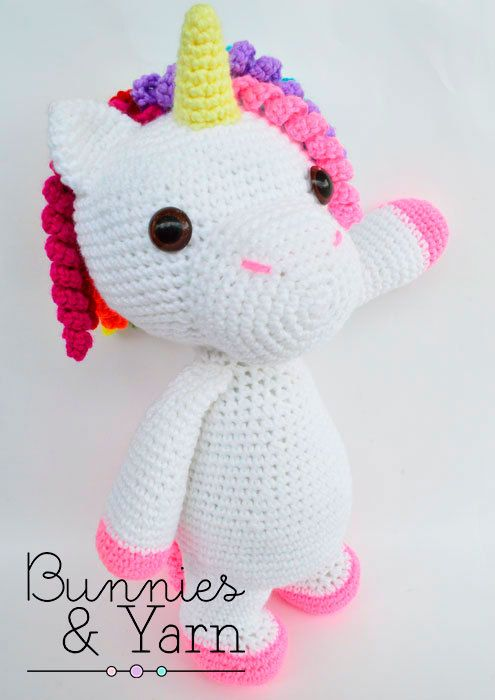 CROCHET PATTERN in English - Mimi the Friendly Unicorn - 16 in./40 ...