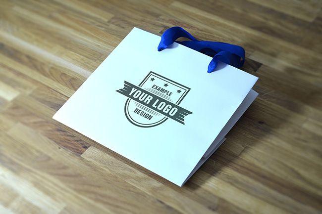 Download Folded Shopping Bag Mockup Mediamodifier Online Mockup Generator Folding Shopping Bags Bag Mockup Online Logo
