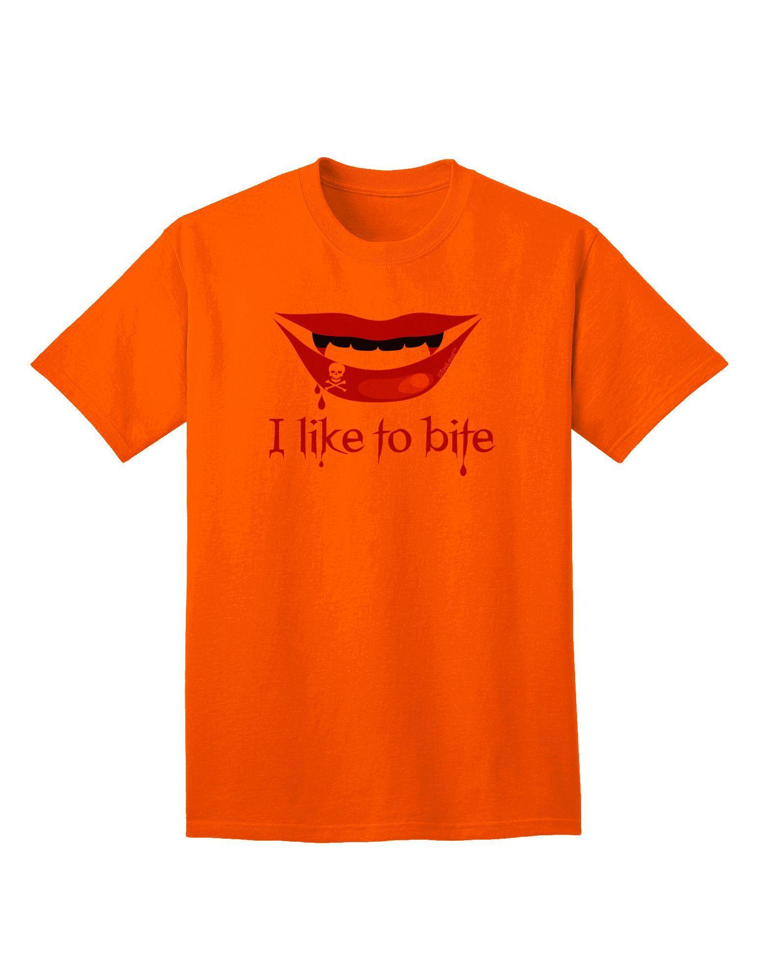 TooLoud Like to Bite Adult T-Shirt