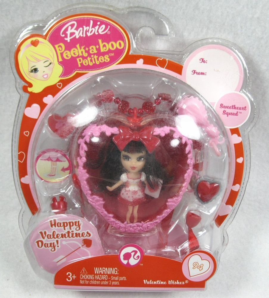 Details About Barbie Peek A Boo Petites Sweetheart Squad Valentine