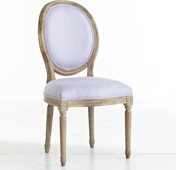 Louis XVI Dining Chair, Lavender - traditional - Dining Chairs