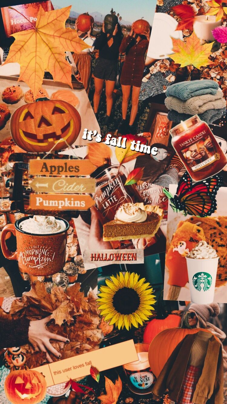 cute aesthetic fall halloween iphone wallpaper