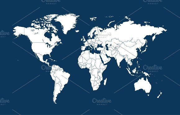 World map vector with borders ui ux world map vector with borders gumiabroncs Image collections