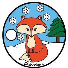 Pathtag #33619 - Christmas Fox