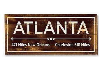 Atlanta wall sign...