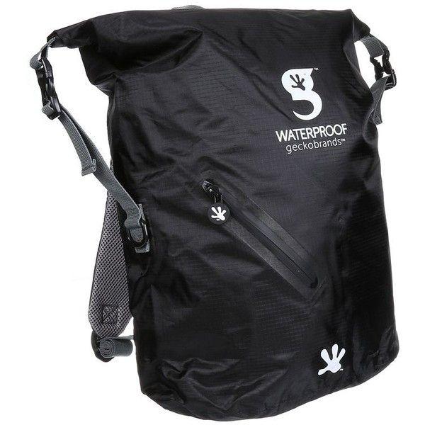 geckobrands Waterproof Lightweight Backpack (Black) ($40) ❤ liked ...